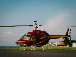 Ein Modell Hubschrauber