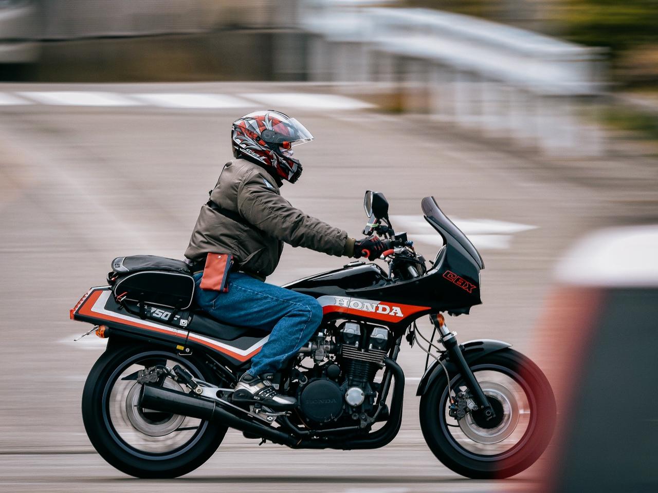 Motorrad mit Navi